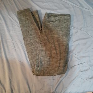 Heather Green Fleece Lined Yoga Pants